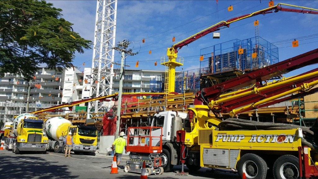 Concrete Pumping Satellite Pump Brisbane
