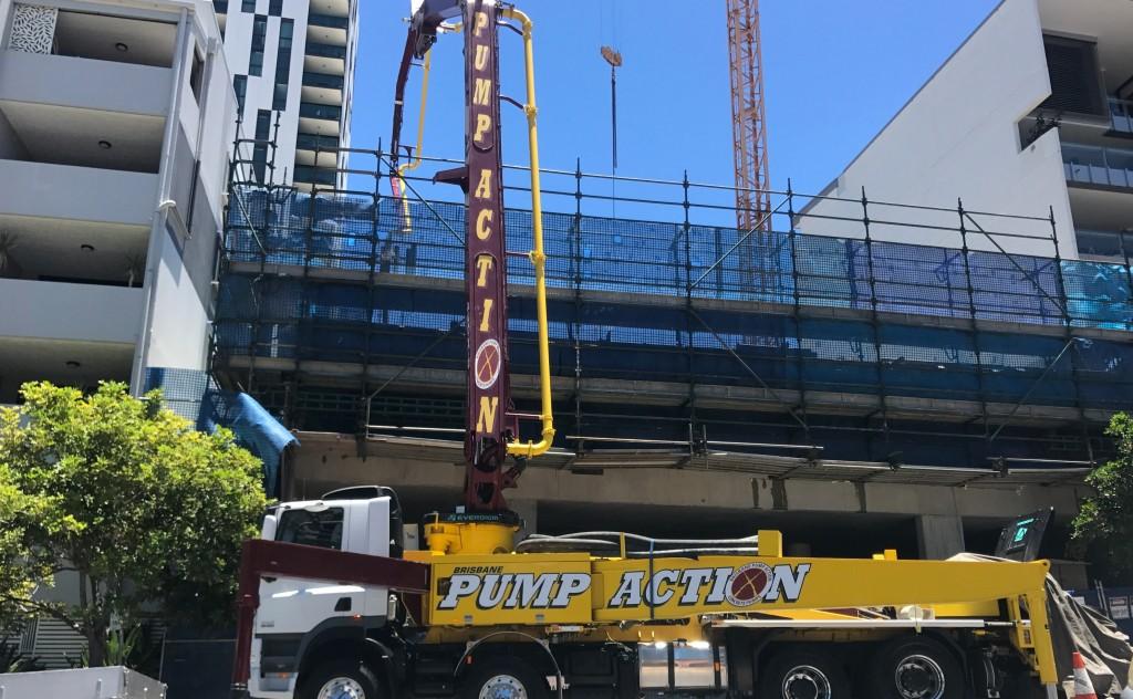 Concrete Pump South Brisbane Apartments