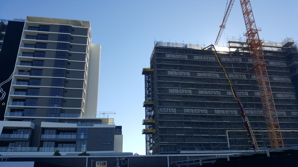 Concrete Pump Boom Brisbane Commercial Apartments