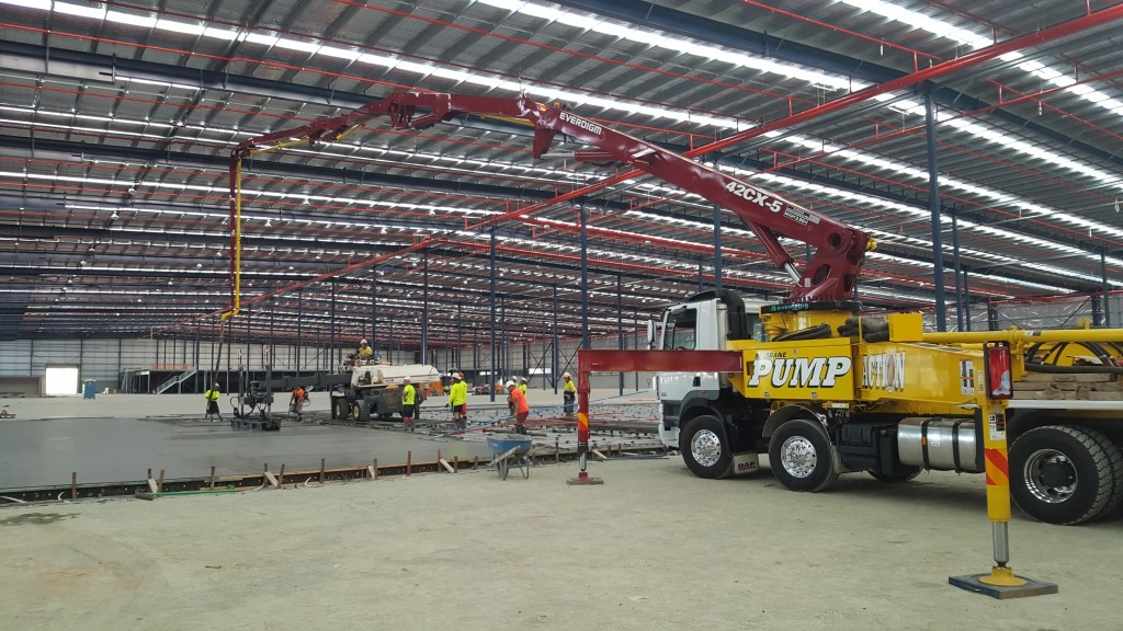 Concrete Pump Boom Brisbane Commercial Warehouse
